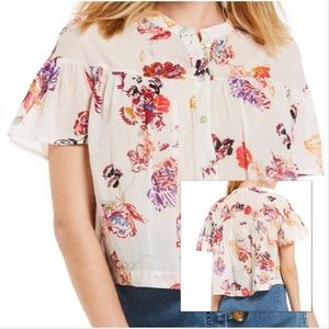 Free People Sweet Escape Button Down Top Size M